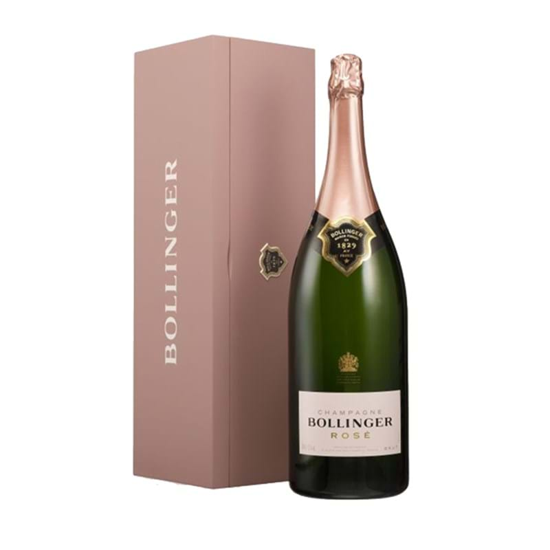 BOLLINGER Brut Rose NV (in pink wood box) Jeroboam (300cl) - NO DISCOUNT Image