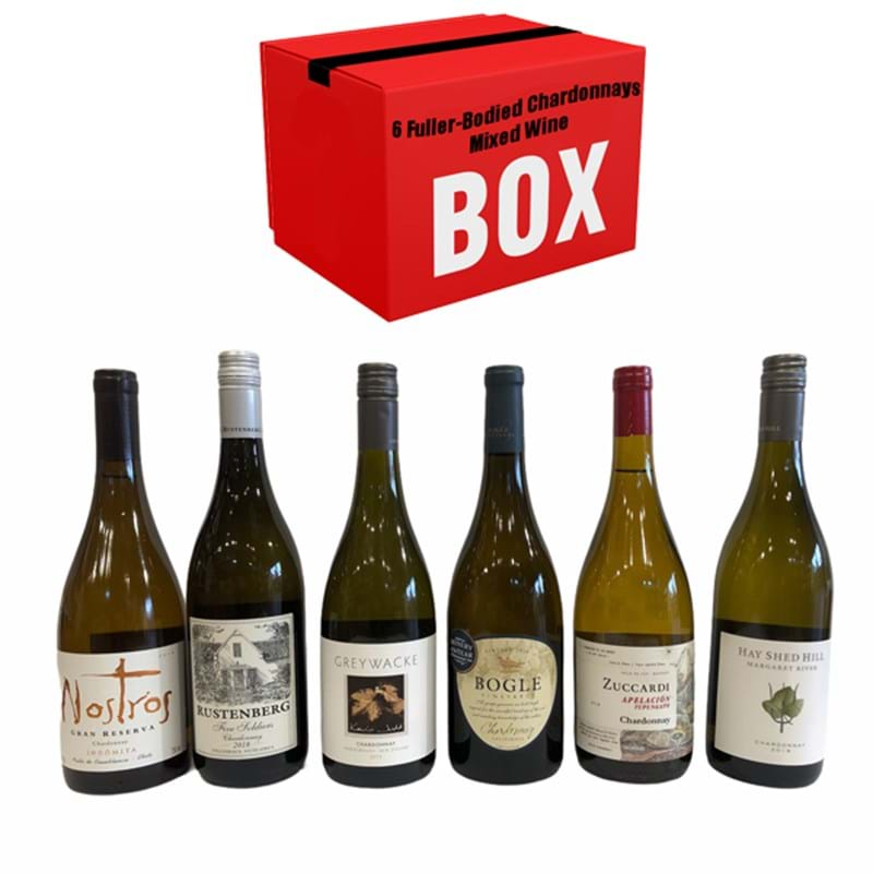 6 FULLER-BODIED CHARDONNAYS Mixed Case x 6 Bottles  Image