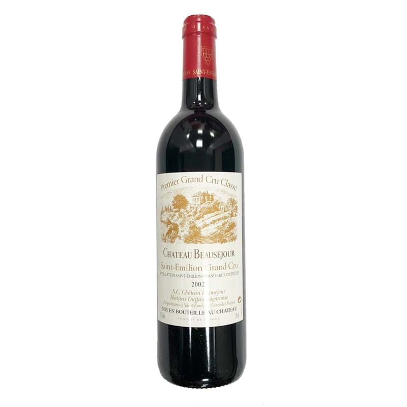 CHATEAU BEAUSEJOUR Grand Cru Duffau St. Emilion 2002 Bottle/nc Image