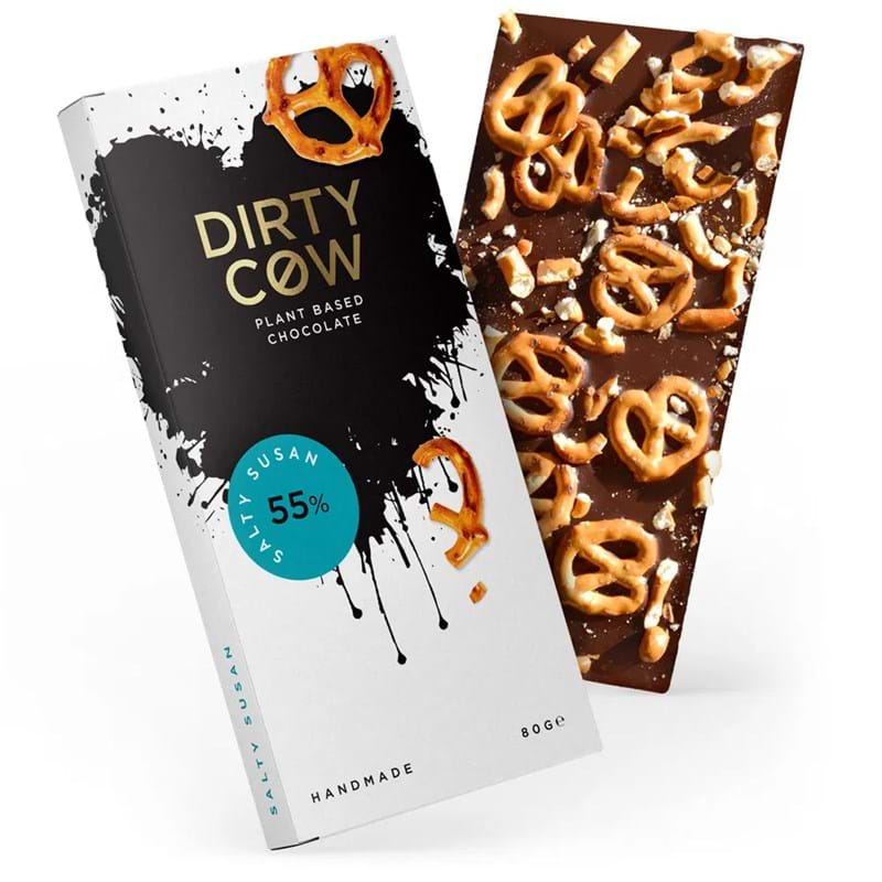 DIRTY COW Salty Susan 55% Plant Based Handmade Chocolate - 80g Bar Image