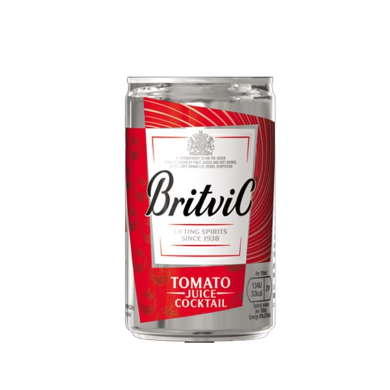 BRITVIC Tomato Juice CASE x 24 Cans (150ml) Image