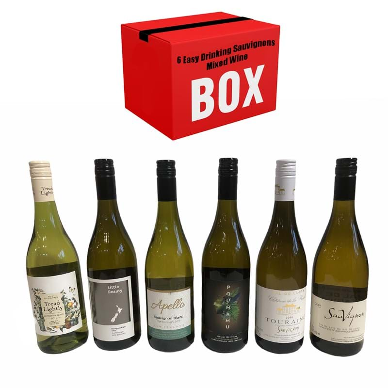 6 EASY DRINKING SAUVIGNON BLANCS Mixed Case x 6 Bottles  Image