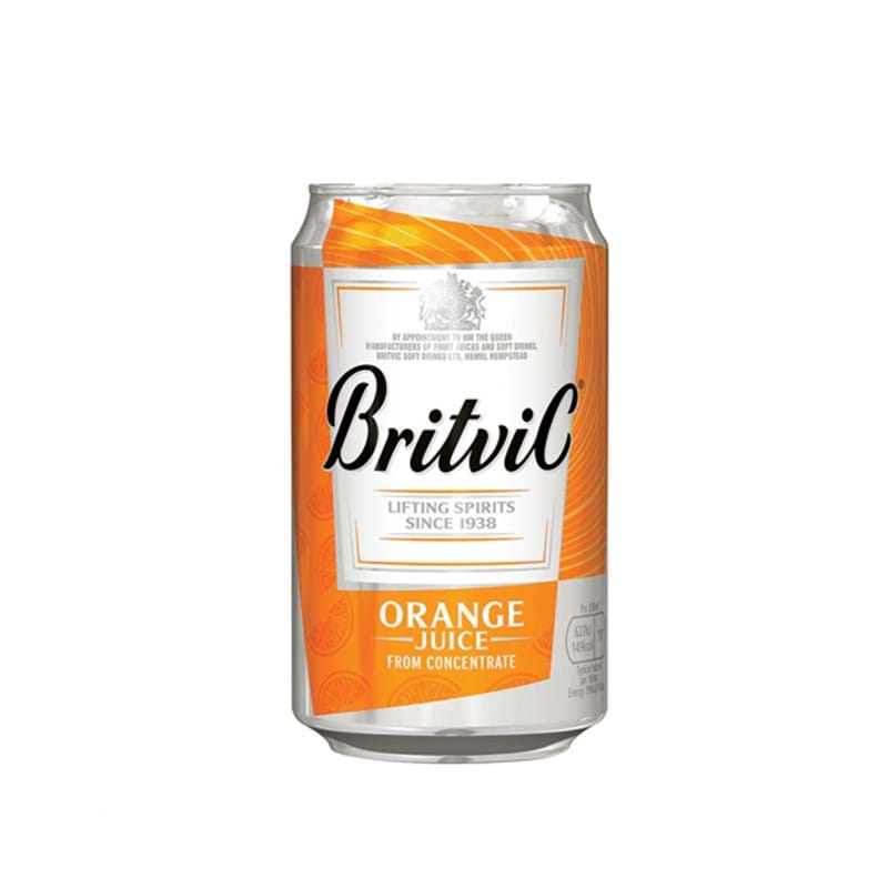 BRITVIC Orange Juice CASE x 24 Cans (150ml) (rtc) Image