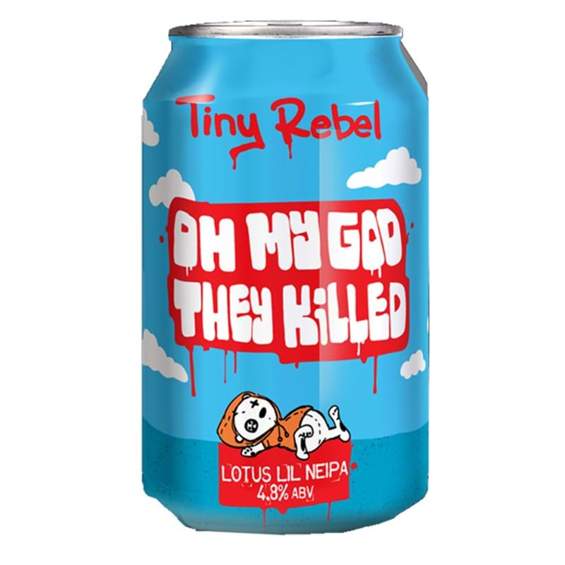 TINY REBEL OMG They Killed Lotus NEIPA 4.8%abv CAN (330ml) Image