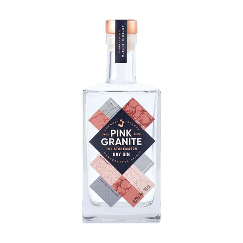PINK GRANITE 'The Stonemason' London Dry Channel Island Gin Bottle (70cl) 45%alc Image