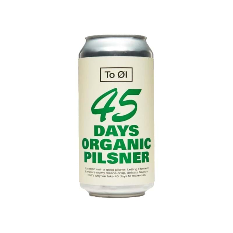 TO ØL (Tool) 45 Day Organic Pilsner 440ml CAN 4.7%abv Image
